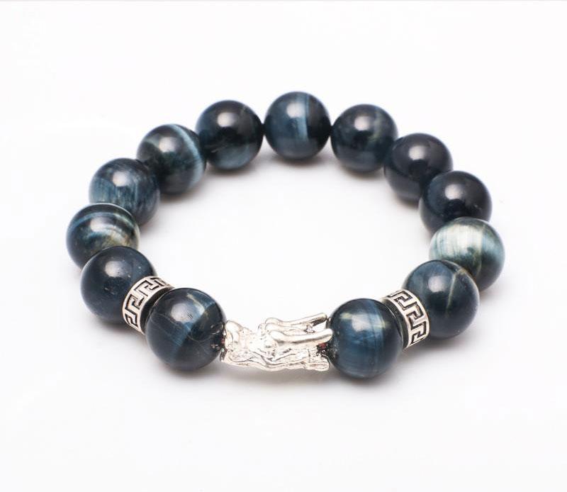 Vòng Tay Obsidian Nhám Kinh Phật